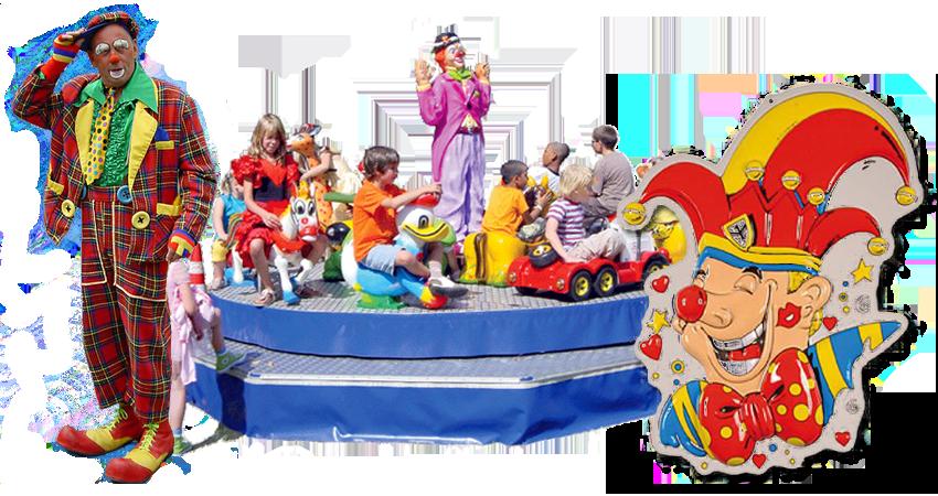 Heeft u de ruimte tijdens uw carnavals feest? Deze draaimolen is leuk voor de kleintjes evt. in combinatie met een ballonnenclown of ander entertainment!
