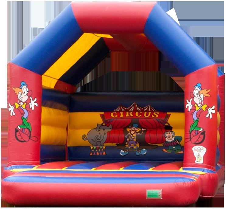 Sprinkussen Circus Springkussenpret is gegarandeerd speel en springplezier voor de kinderen. Onze springkussens zijn kindvriendelijk hebben veilige zij en achterwanden. Onze springkussens worden verhuurd met toezicht.