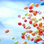 Wedstrijd ballonen oplaten